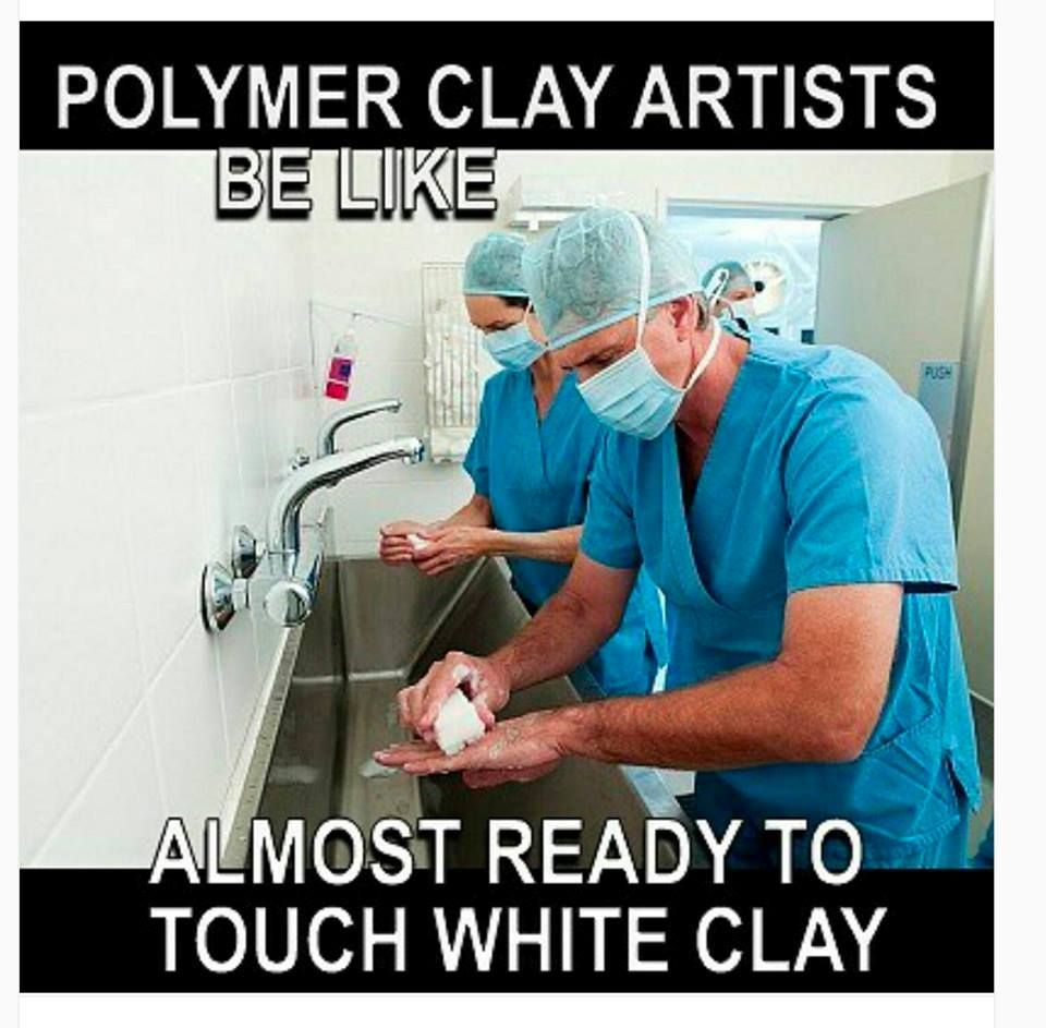 Polymer Clay Humor from Queen City Clayers