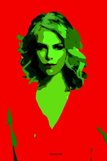 "Saatchi Art Artist ACQUA LUNA; Painting, ""100-POP Art. Charlize Theron VIII."" #art"