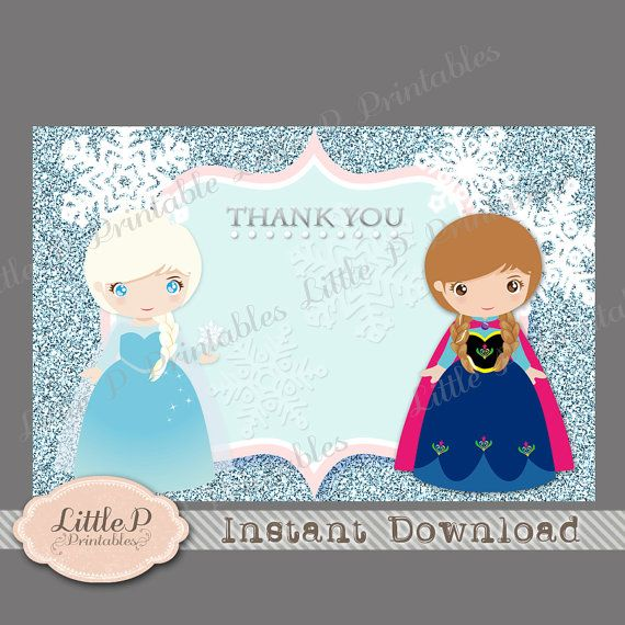 Frozen Party Personalized Printable Invitation And Thank You