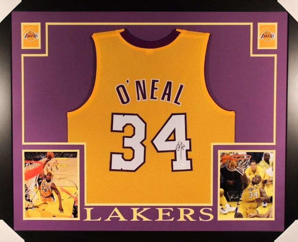 Shaquille O\'Neal Signed Lakers 35x43 Custom Framed Jersey (JSA COA ...