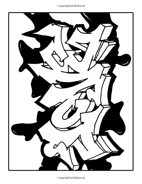 Graffiti Coloring Book For Adults: A Collection of Graffiti ...