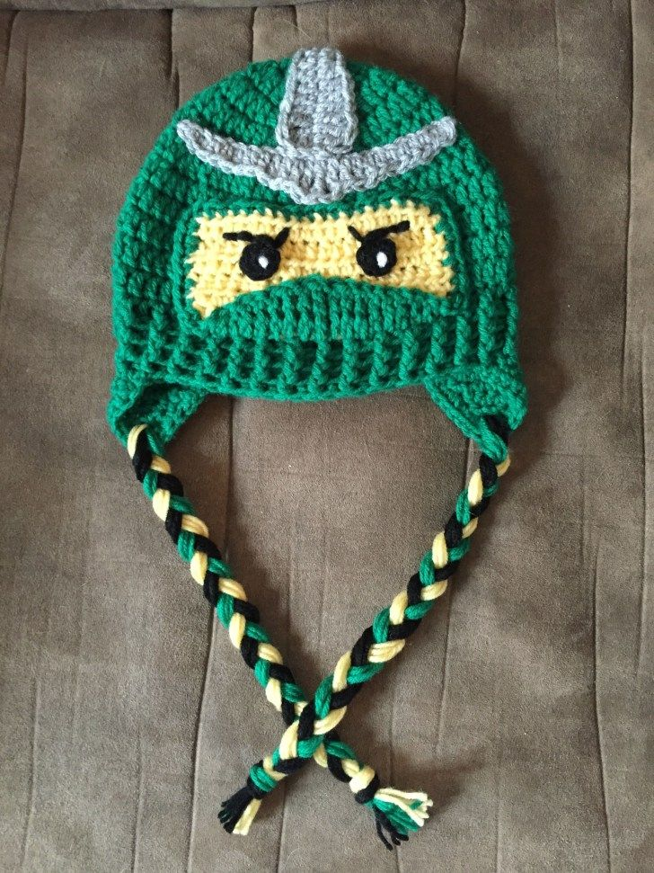 Crochet Beer Can Cowboy Hat Pattern Lego Ninjago Inspired Crochet Hat My Creations Pinterest #uncinettoperbambina