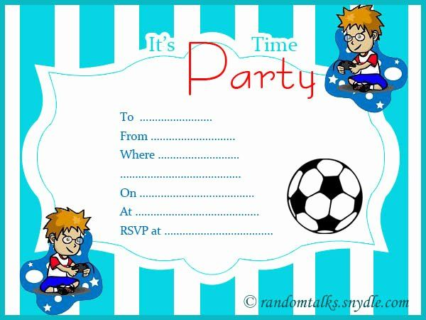Boy Birthday Party Invitation Template Elegant Free Printable Birt Boy Birthday Invitations Birthday Party Invitations Printable Boy Birthday Party Invitations