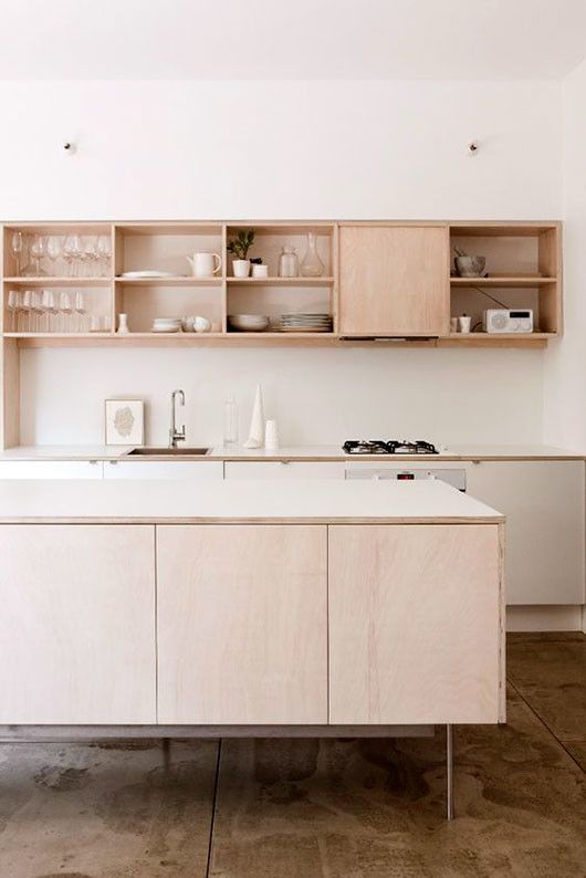 plywood kitchen built ins via the design files sfgirlbybay - Plywood Kitchen Decor