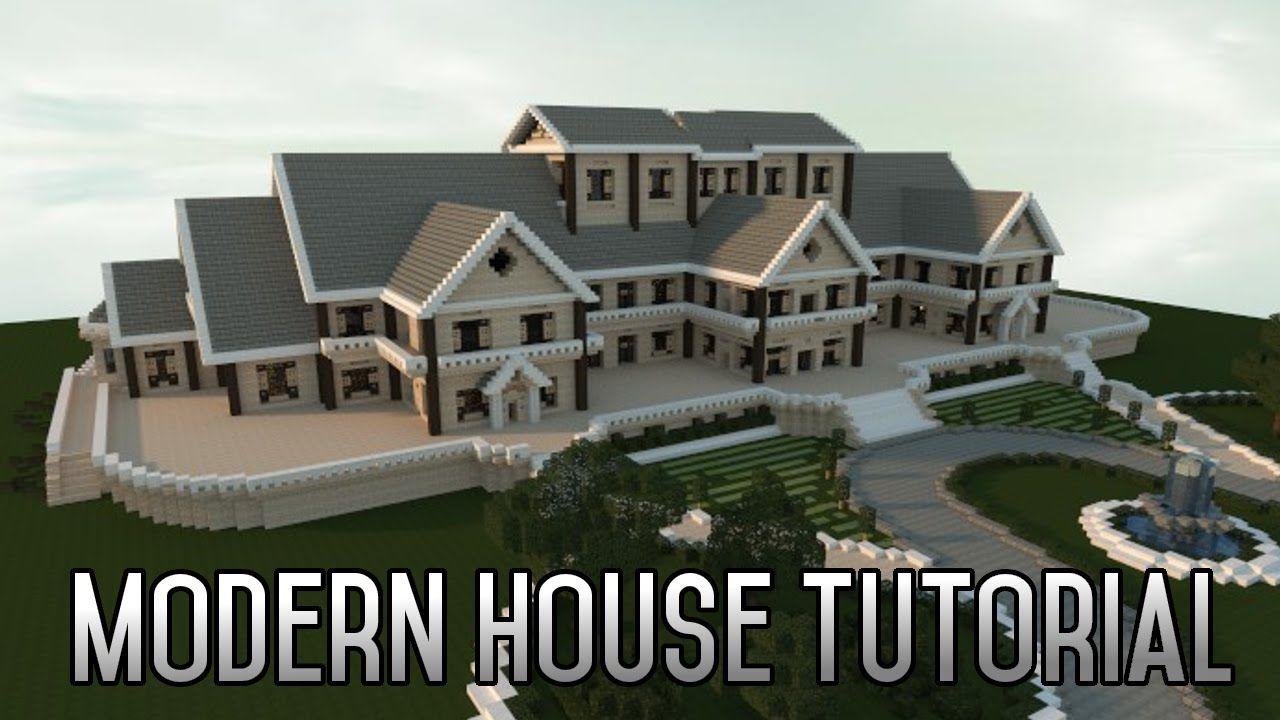 Minecraft insane modern house tutorial part 1 xbox pc 2015