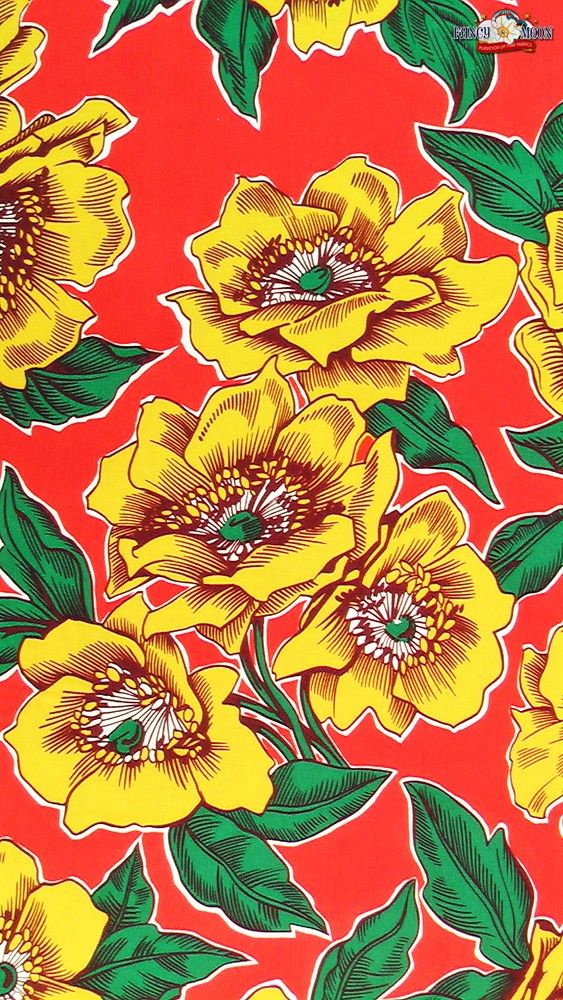 Poppies De Potosi Cotton Fabric by Alexander Henry