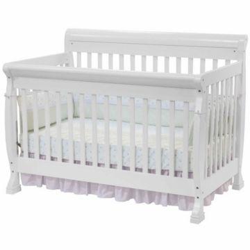 Davinci Kalani 4 In 1 Convertible Crib In White Spring Time Baby