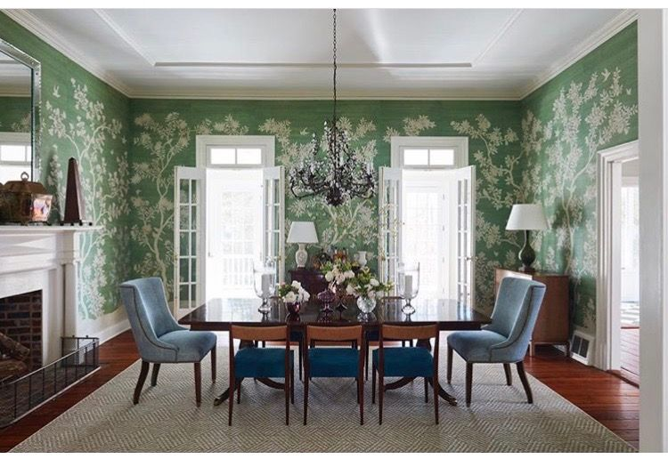 pin by leanne sides on home sweet home dining room wallpaper rh pinterest com