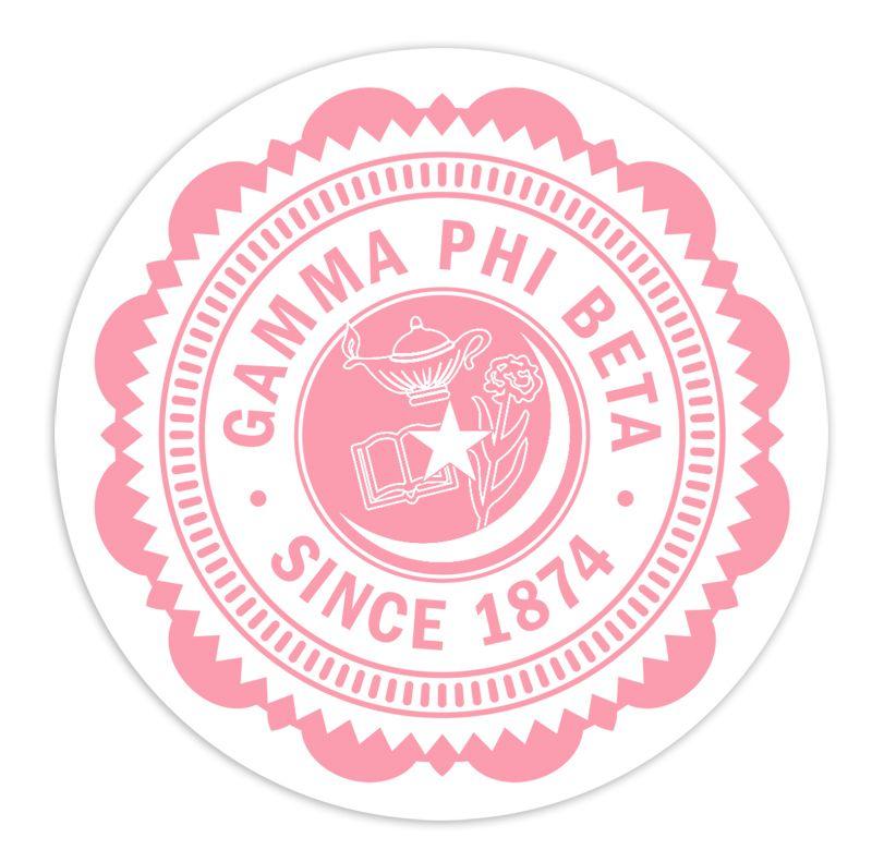 Gamma Phi Beta 5 Sorority Seal Bumper Sticker Sale 1 95 Gamma Phi Gamma Phi Beta Sorority Colors