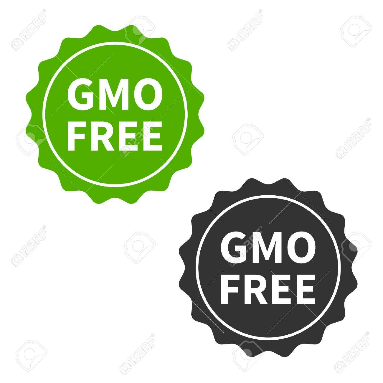 Non Gmo Or Gmo Free Food Packaging Seal Or Sticker Flat Icon Sponsored Food Packaging Gmo Free Flat Gmo Free Food Gmo Free Free Food