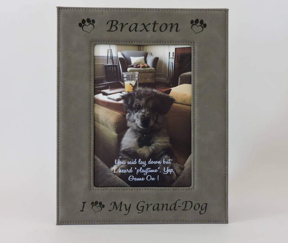 Grand dog photo frame grandpuppy granddog grandpup custom grand dog photo frame grandpuppy granddog grandpup custom engraved photo picture jeuxipadfo Image collections