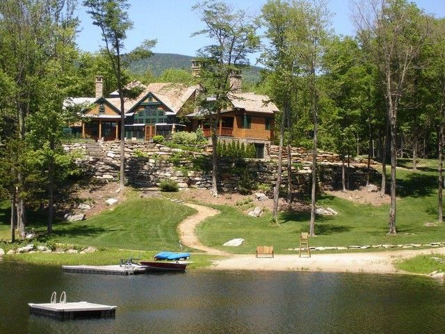 Log cabins in vermont lodges and log cabins dream rustic homes stratton vermont - Small log houses dream vacations wild ...