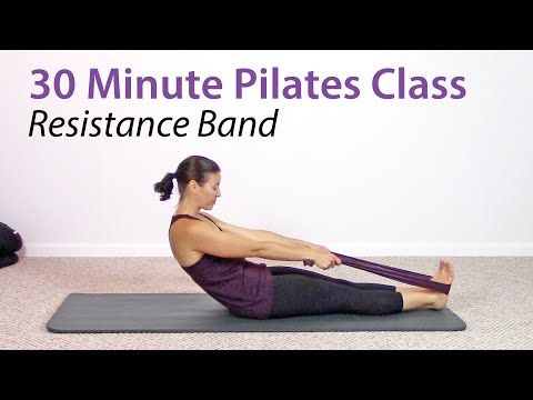 30 Minute at Home Pilates Workout with a Resistance Band