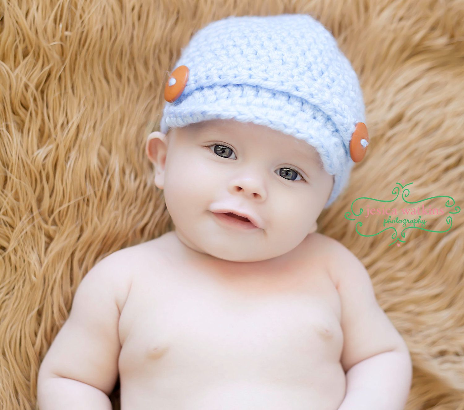 Free Baby Crochet Hat Patterns With Brim : Crochet Baby Newsboy Hat , Newborn Newsboy Hat, Crochet ...