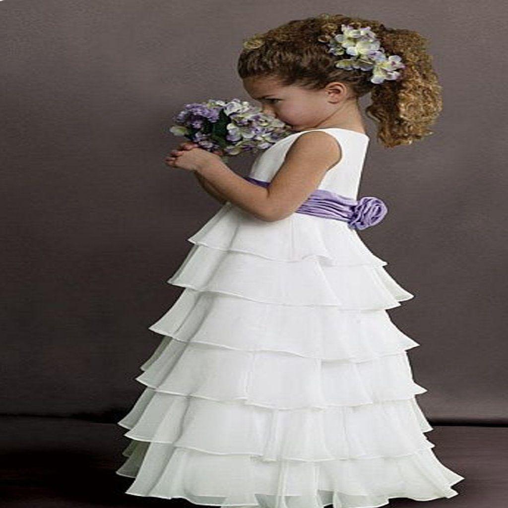 sweet beginnings tiered chiffon flower girls dress bridesmaid