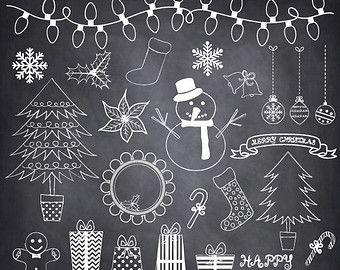 Schoolbord sneeuwvlokken ClipArt SNEEUWVLOKKEN door SAClipArt