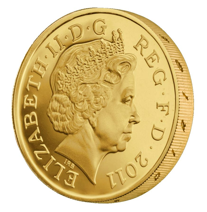 Pure Gold One Pound Coin Metallic Shine Pinterest