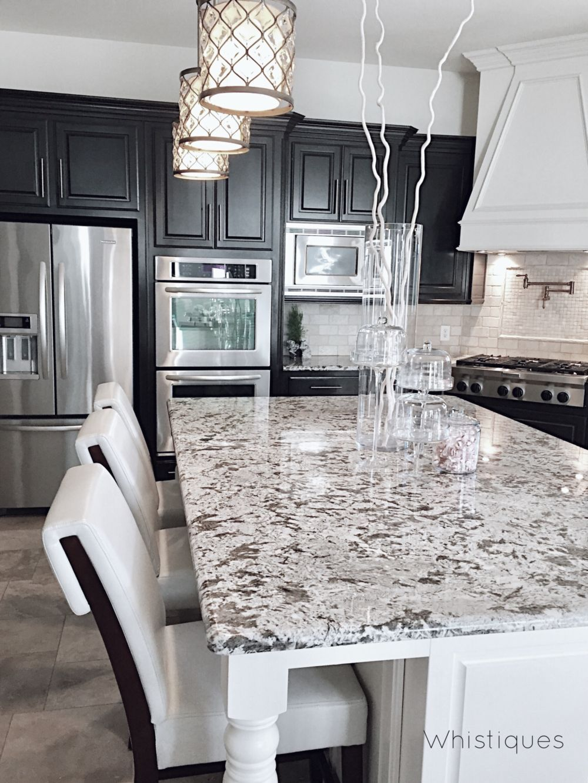 Kitchen island with grey and white color scheme décor kitchen
