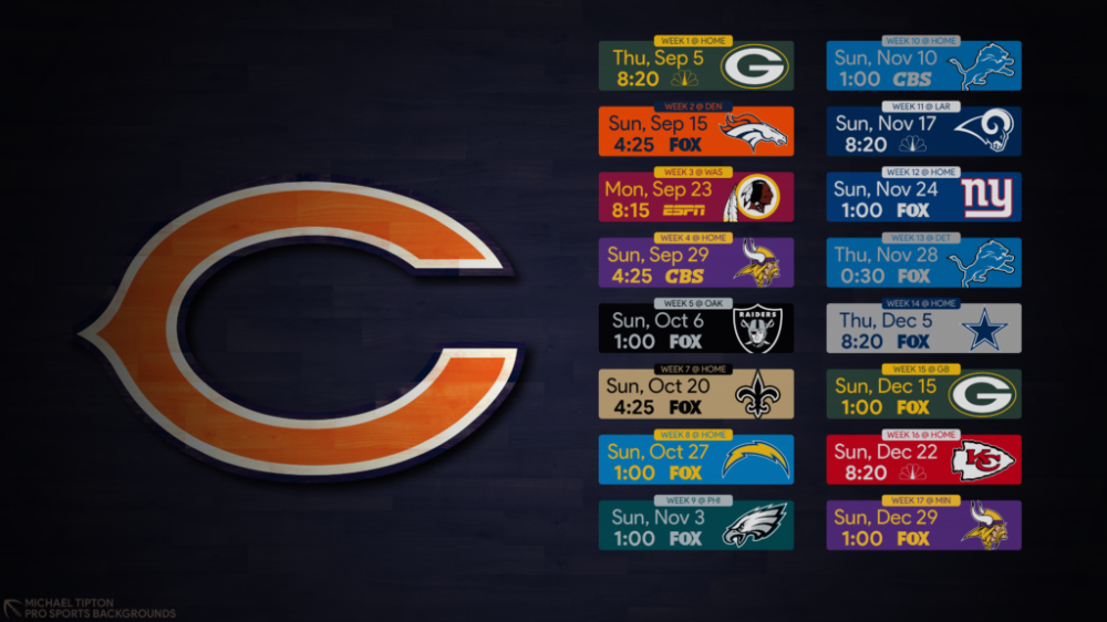 2019 Chicago Bears Wallpapers Pro Sports Backgrounds Chicago Bears Wallpaper Chicago Bears Bear Wallpaper