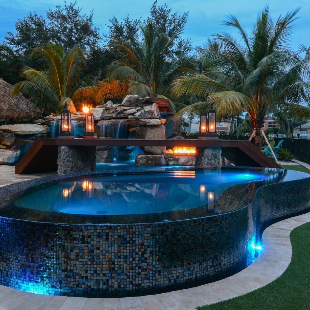 "Lucas Lagoons on Instagram ""Mediterranean backyard custom"