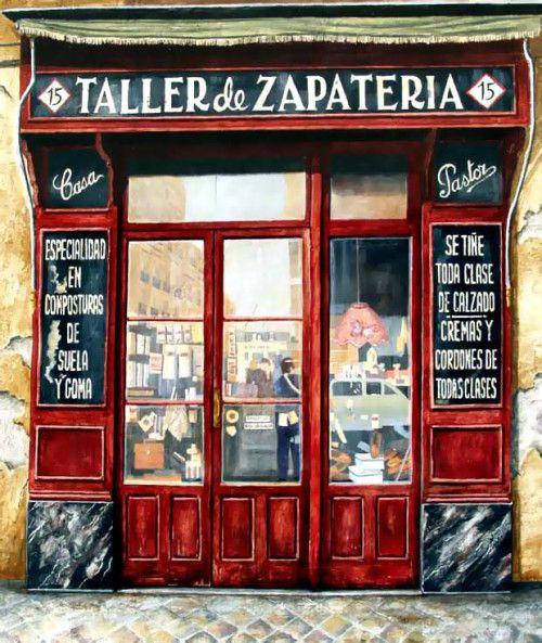 Madrid Antiguo Spain Antiguo Comercio Fachadas De Tiendas Tiendas Antiguas Zapaterias Madrid