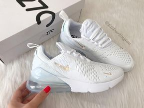 Swarovski Bling Nike Air Max 270 Shoes in Rose Gold Swarovski Crystals #shoes