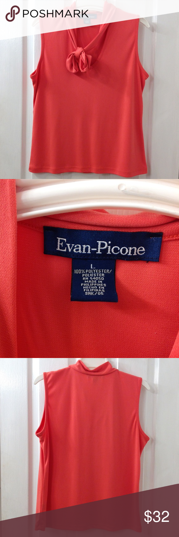 Hp Lovely Coral Evan Picone Tank With Images Clothes