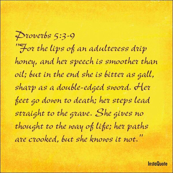 Scriptures About Fornication In The Bible