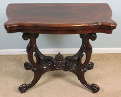Antique Rosewood Card Game Table C 1860 Card Game Table Victorian Furniture Table