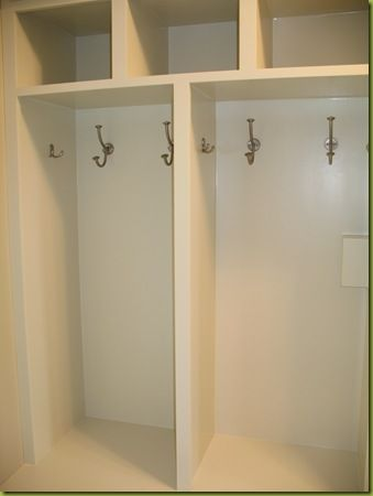 Mudroom Locker Hook Placement Large Double In The Middle With A Smaller On Ends
