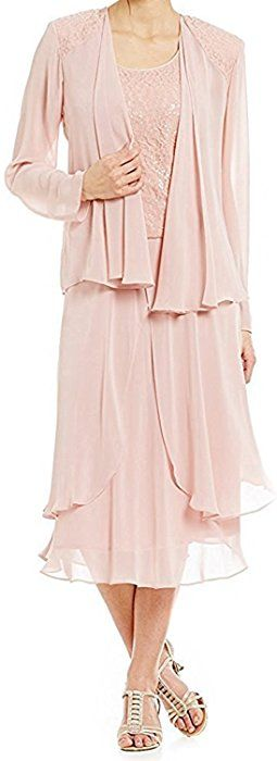 3e7f8ffbea1 Amazon.com  Fitty Lell Women s Mother of The Bride Dress Chiffon With Jacket  Wedding Prom Gown Plus Size(US16