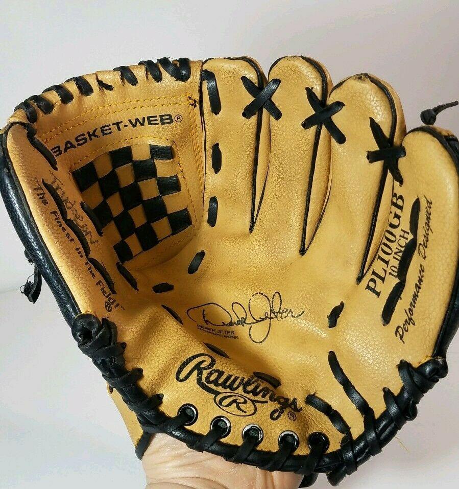 Details About Rawlings Baseball Glove Pl100gb 10 Derek Jeter Model Gold Glove Rh Throw Gold Gloves Rawlings Baseball Baseball Glove