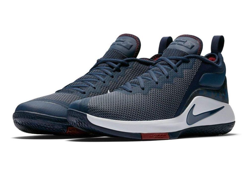 1fd84d7eaf07 fashion Nike Lebron Witness II 2 Blue Basketball Shoes Mens Navy Camo White  New w  Box