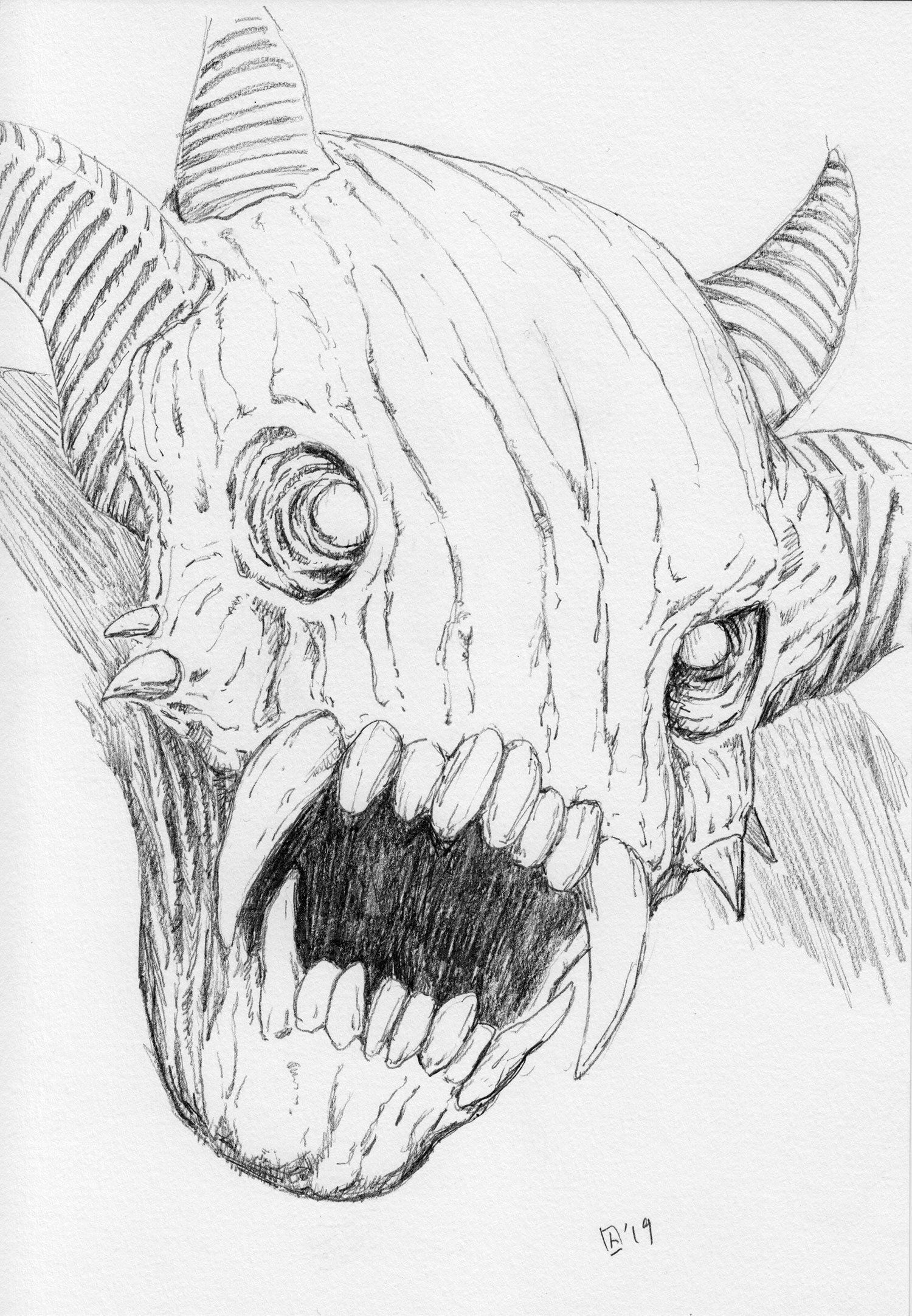 Pencil Original A Demon Monster Thing With Images Demon