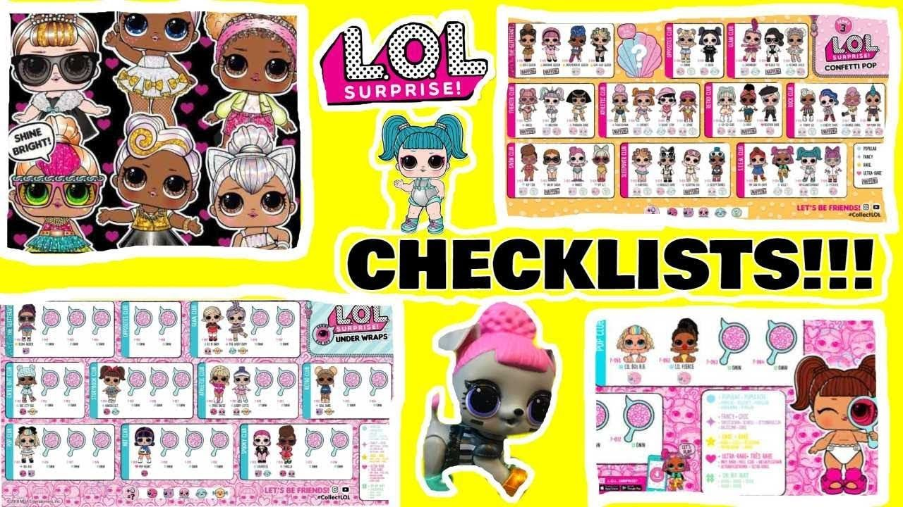 Lol Surprise Dolls Huge Video L O L Names Pictures Checklist Petsofl Youtube Kids Name Pictures Kids Videos