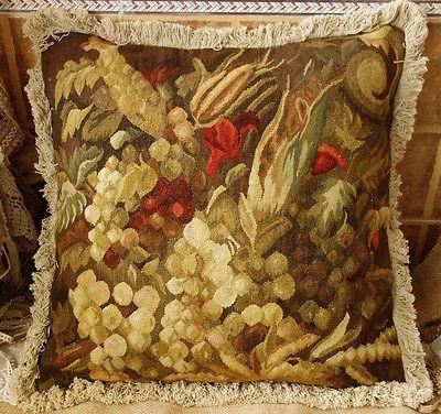 "19"" Rare Heirloom Treasure Still Life Artistic Aubusson Tapestry Pillow Cushion | Crafts, Needlecrafts & Yarn, Embroidery & Cross Stitch | eBay!"