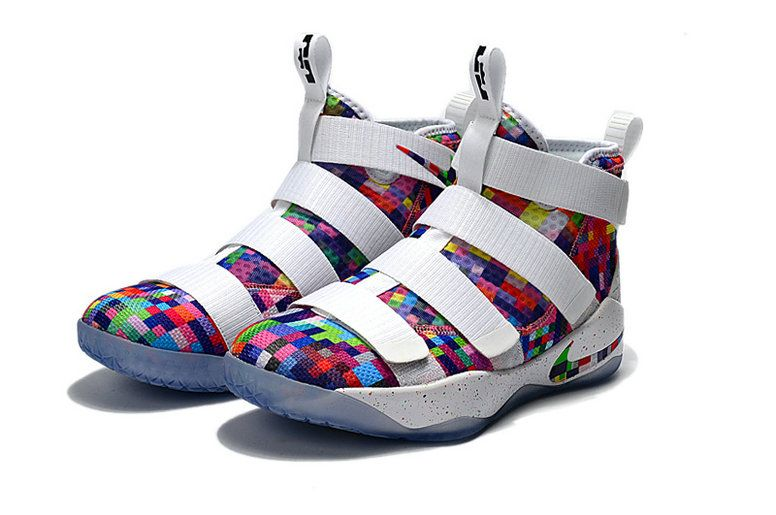 fd2692eeb8c New Lebrons 2017-2018 Nike Zoom Lebron Soldier 11 Prism Multicolor White