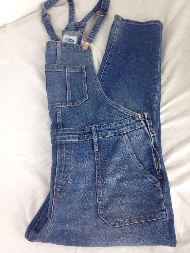 Old Navy Women S Jeans Overalls Size 14 Regular Bibbed Painter Farmer Carpenter