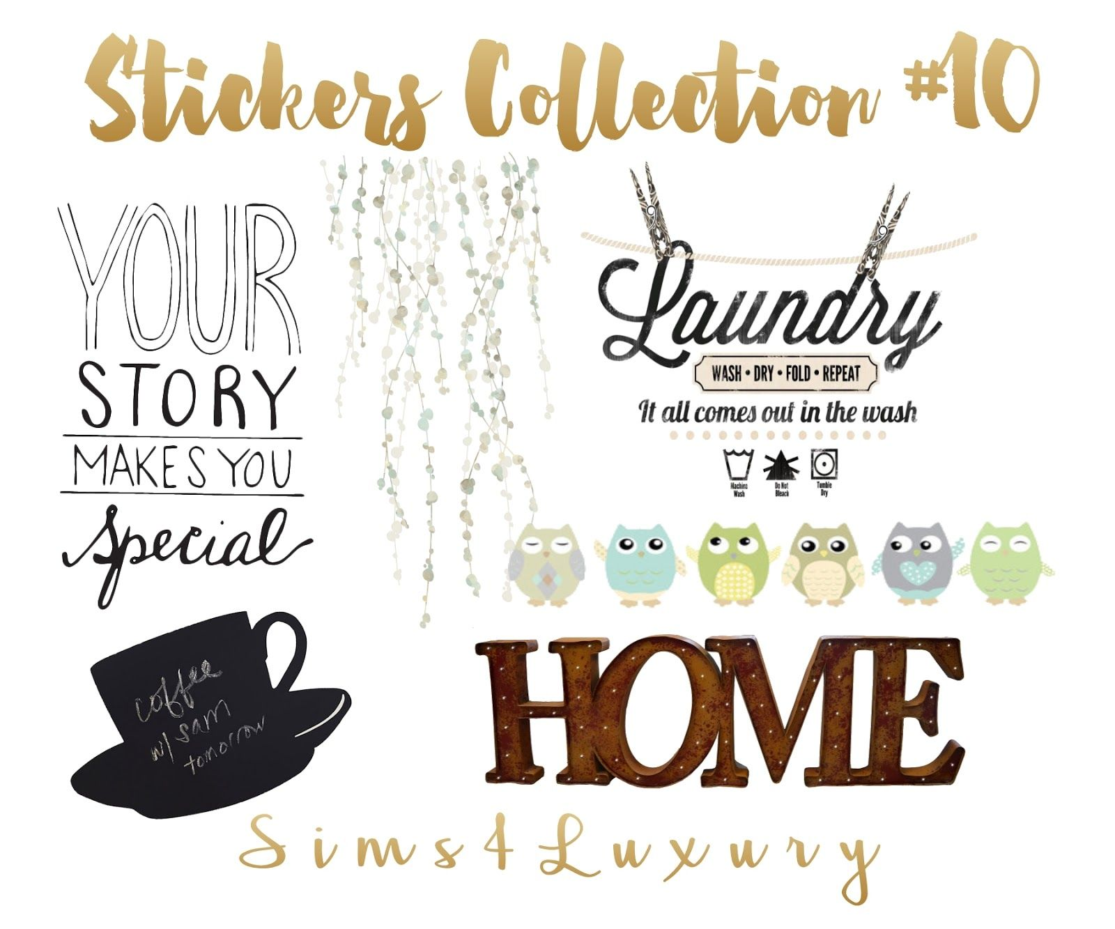Stickers collection 10 sims4luxury