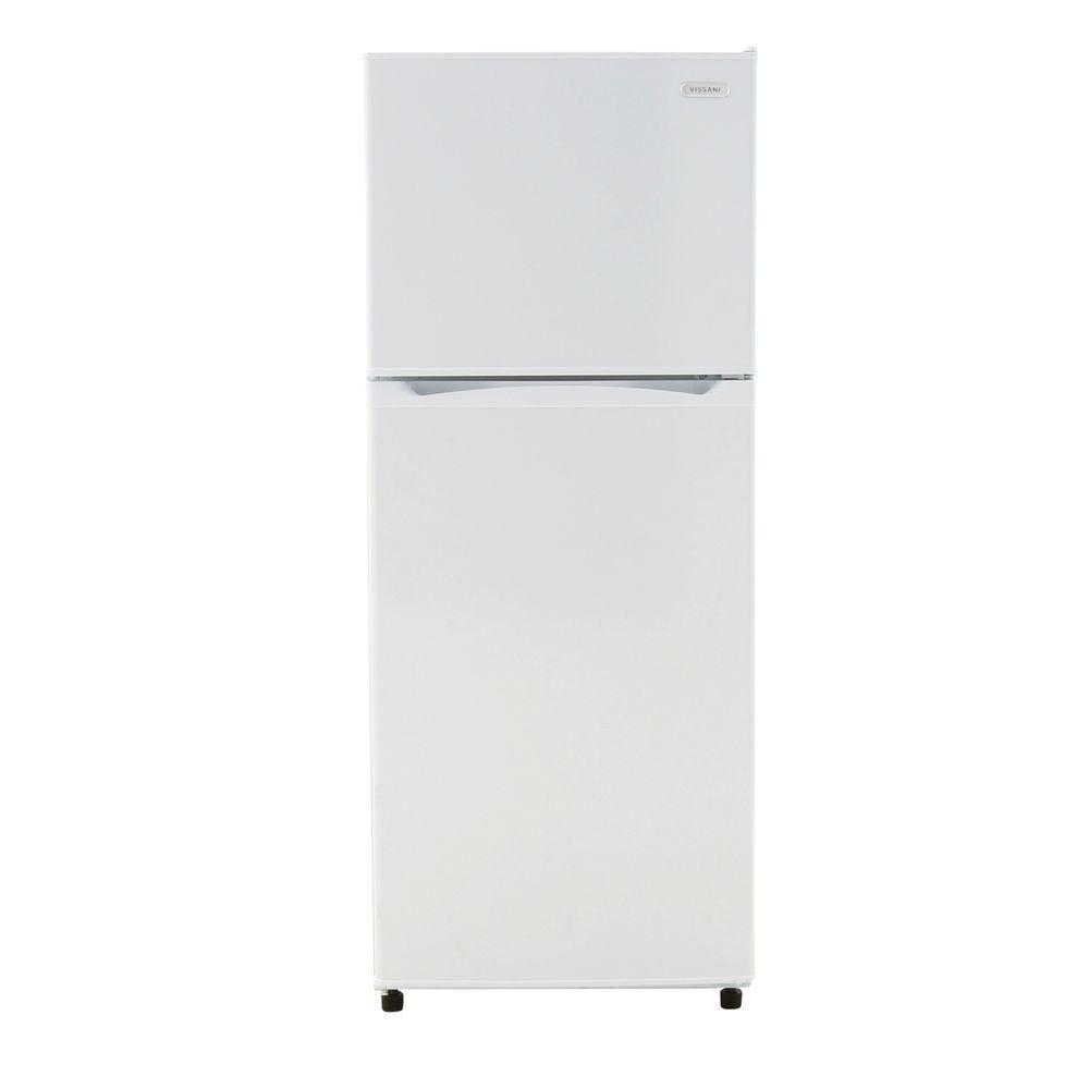 Magic Chef 9 9 Cu Ft Top Freezer Refrigerator In White Hvdr1040w The Home Depot Top Freezer Refrigerator Refrigerator Kitchen Refrigerator