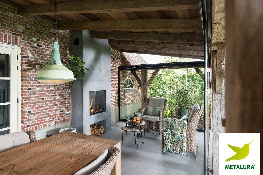 Terraskamer uddel metalura ◯ terrasbeglazing pinterest verandas