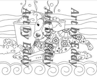 This Coloring Page Consists Of 1 Hand Drawn Image A Beautiful Pitbull For You To