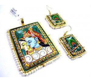 Radha krishna painting tanjore art pendant with earrings tanjore radha krishna painting tanjore art pendant with earrings tanjore tanjorejewellery jewelry jewellery mozeypictures Choice Image
