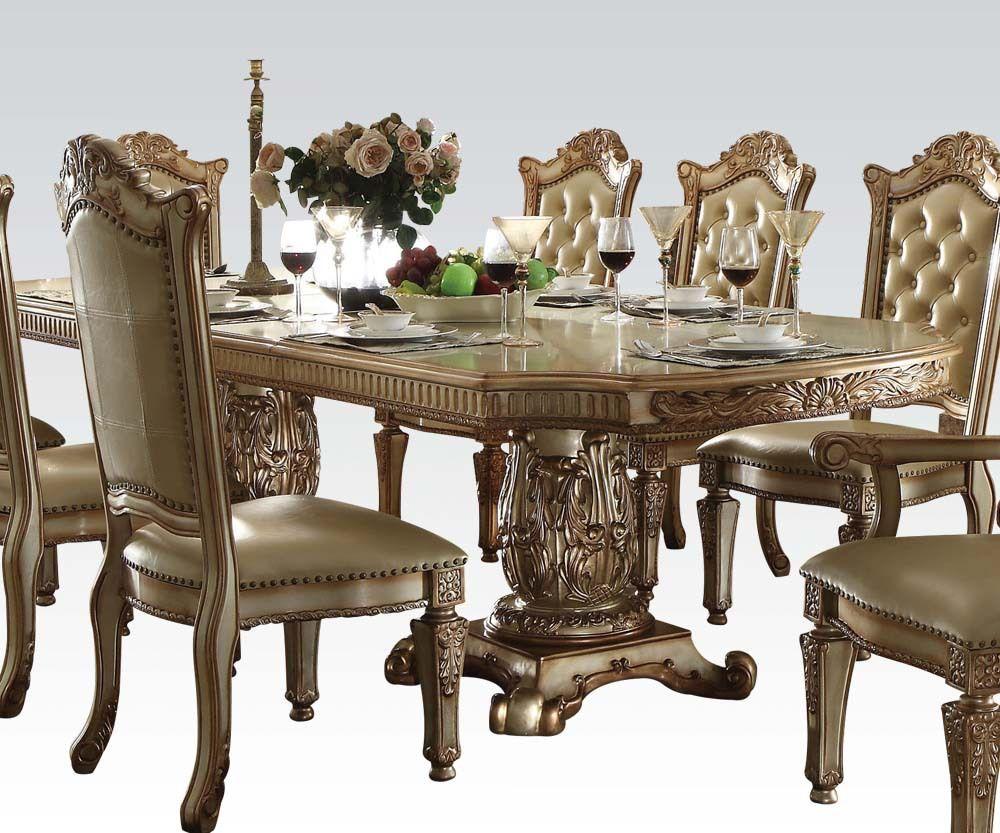 Vendome Gold 9 Piece Formal Dining Set  Dining Sets Quality Prepossessing Dining Room Empire Decorating Inspiration