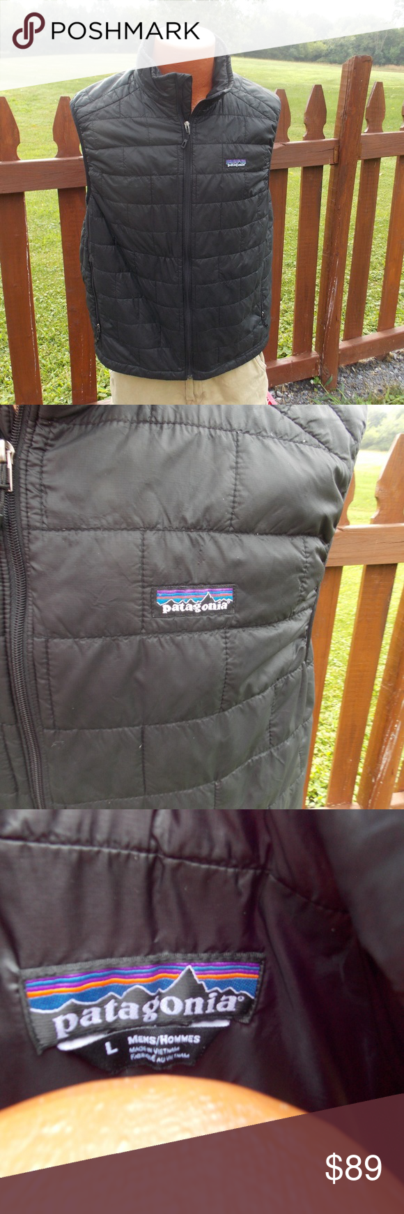 Patagonia Mens Puff Puffer Vest Black Size Large Size