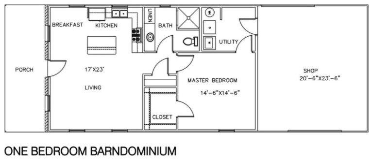 Barndominium Floor Plans With Shop 1 Bedroom Design Ideas Loft Floor Plans Barndominium Floor Plans Floor Plans