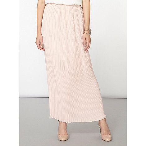 dorothy perkins pink blush pleated maxi skirt debenhams