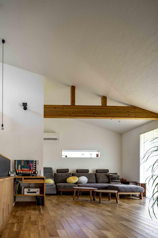 3つの屋根が流れる白い平屋住宅 加度商の写真集 広島県尾道市 注文住宅
