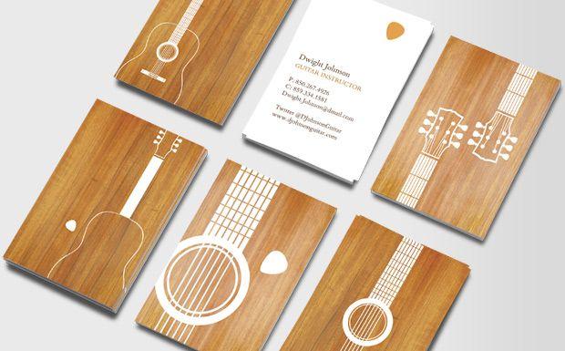 Guitar Silhouettes Musician Business Card Business Card Design Business Card Branding