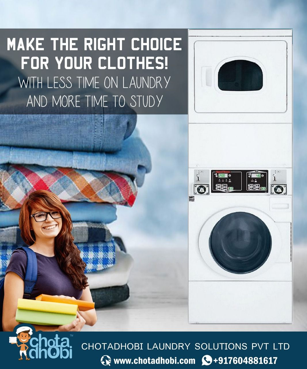 Get A Safe Hygienic Laundry Solution With Chotadhobi Com Call Us